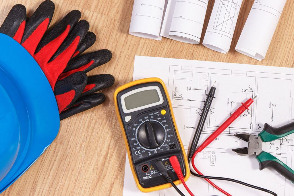 multimeter for measurement to check electricity safety