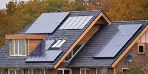 Solar panels on house's roof