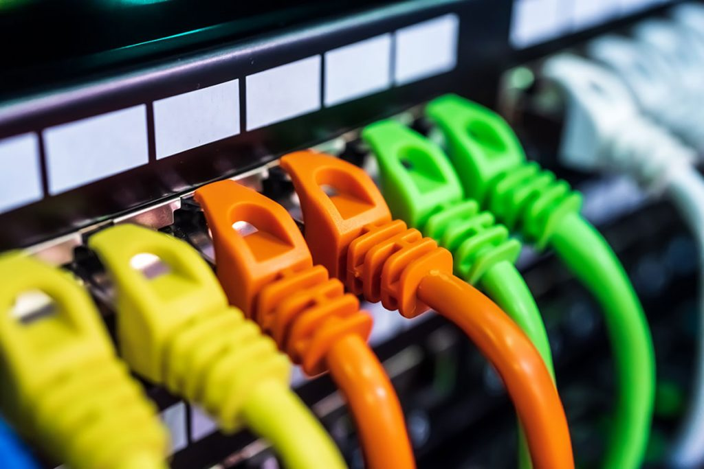 colorful ethernet cables
