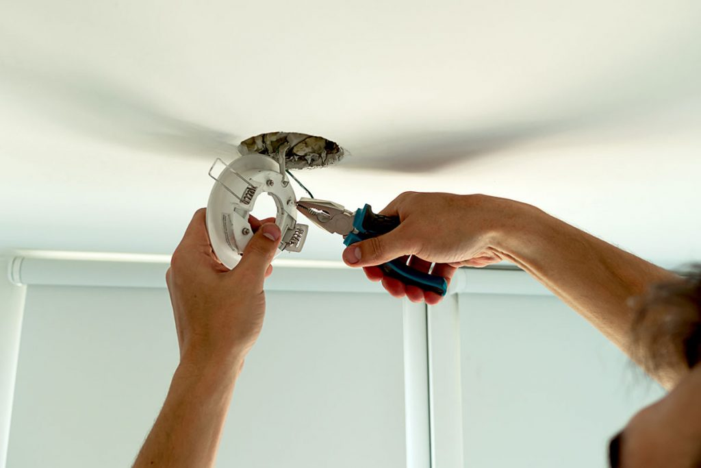 room lighting installation